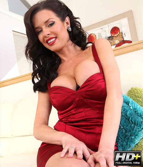 hot milf in a red dress